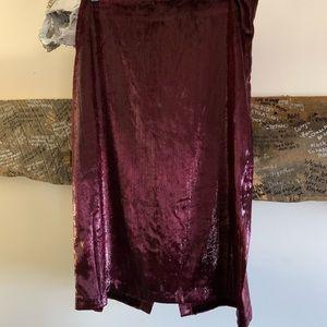 Velvet Burgundy sparkle skirt